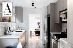 Before & After: A Galley Kitchen Gets a Gorgeous Modern Makeover | Apartment Therapy