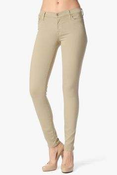 The Slim Illusion Skinny In Khaki   7 For All Mankind