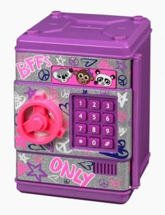 Graffiti Electronic Push Code Safe - cool for little girls Birthday List, 8th Birthday, Birthday Presents, Birthday Wishes, Little Girl Toys, Toys For Girls, Kids Toys, Justice Toys, Shop Justice
