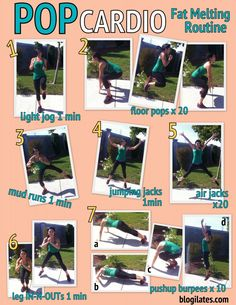 Fat Melting Routine Printable - Blogilates: Fitness, Food, and lots of Pilates