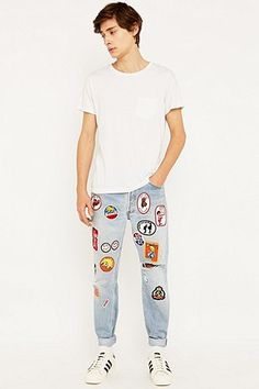 Urban Renewal Vintage Customised Patch Jeans - Urban Outfitters