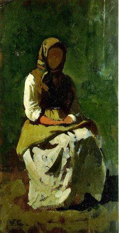 Cabianca, Vicenzo (1827-1902) - 1862 Study of a Woman (University of Siena, Italy) | par RasMarley