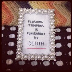 Do not flush tampons by analprobehearts on Etsy