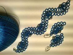Komplet błękitny Wzór Coriny