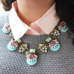 Image of 1 Left! Viva la Jewels - Perfectly Pastel Crystal Necklace from vivalajewels.com enter code robinhills at checkout so they know who referred you!