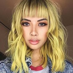 pretty yellow hair