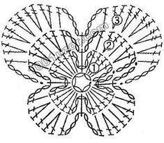 Rose Butterfly crochet pattern