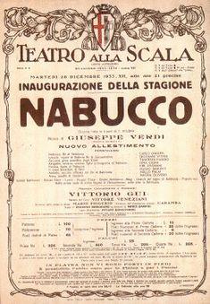 """""""Nabucco"""" di Giuseppe Verdi, Teatro alla Scala, Milano"""