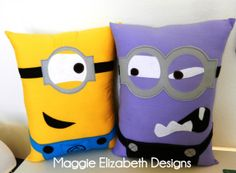 Purchase cute personalized minion pillows on Etsy! by, Maggie Elizabeth Designs