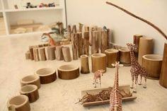 Bambú. Material natural a l'escola.
