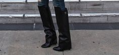 Fold over boots for Fall, inspired by the Givenchy Column Boot.