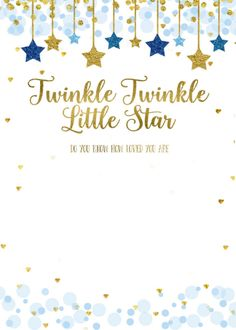 Shop Twinkle Twinkle Little Star Baby Shower Invitation created by HappyPartyStudio. Juegos Baby Shower Niño, Dibujos Baby Shower, Baby Shower Invitaciones, Baby Shower Invitations For Boys, Baby Shower Themes, Baby Boy Shower, Birthday Invitations, Shower Ideas, Baby Shower Templates