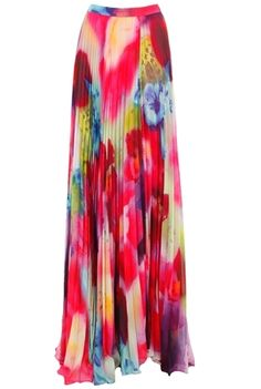 1d3daa1029 Alice + Olivia Shannon Pleated Maxi Skirt in Jungle Floral Maxi Styles, Pleated  Maxi,