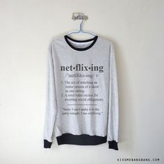 Netflixing Long Sleeve T-shirt