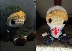 crochet legend of zelda | Legend of Zelda Handmade Amigurumi: Link OR Sheik, Made to Order!