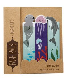 Marine Life Page Flag Book - Set of Two by Girl Of All Work #zulily #zulilyfinds