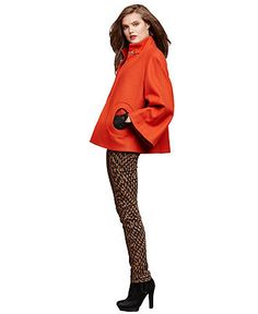 Cold Weather Chic Swingy Cape Coat Look - Womens Bold Coats - Macy's
