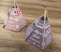 3D Tipi Wedding Invitations! | Personalised to you | Perfect for festival, rustic and tipi weddings | Quirky and Unique Invites by GeorgiaYatesDesign on Etsy https://www.etsy.com/uk/listing/566954653/3d-tipi-wedding-invitations-personalised
