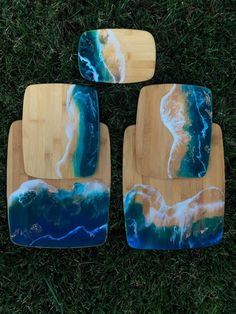 Arctic Blue Ice Ocean – Charcuterie – Meat and Cheese Serving Board – Appetizer Platter – Resin Art Ocean waves – Housewarming - Smooth. Art Furniture, Charcuterie Meats, Cheese Art, Art Diy, Diy Cutting Board, Epoxy Resin Art, Resin Artwork, Resin Crafts, Decoration