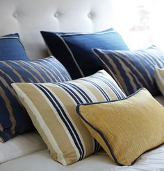Beautiful blue cushions with a slight cream combination making it a perfect match for your bed -  Wedgewood Blue