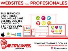 Ofrecemos asesoramiento profesional para el desarrollo de páginas web para profesionales que quieran ofrecer sus servicios a través de internet.  + info: http://www.artdigiweb.com.ar