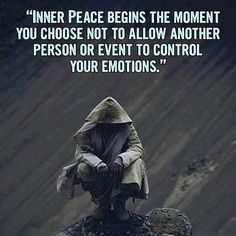 Inner begins the moment you choose to allow another person or event to your Strong Quotes, Wise Quotes, Quotable Quotes, Great Quotes, Positive Quotes, Motivational Quotes, Inspirational Quotes, Qoutes, Motivational Thoughts