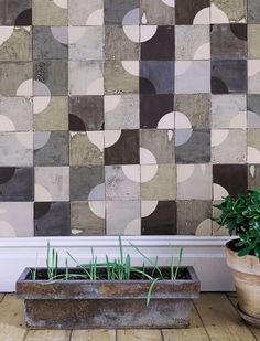 Tile Pattern backslpash bathroom - This is an idea of installing backsplash for a half bathroom with double sinks. Room Tiles, Wall Tiles, Install Backsplash, Espace Design, Unique Tile, Bathroom Pictures, Bathroom Ideas, Tile Design, Pattern Design
