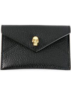 skull envelope cardholder