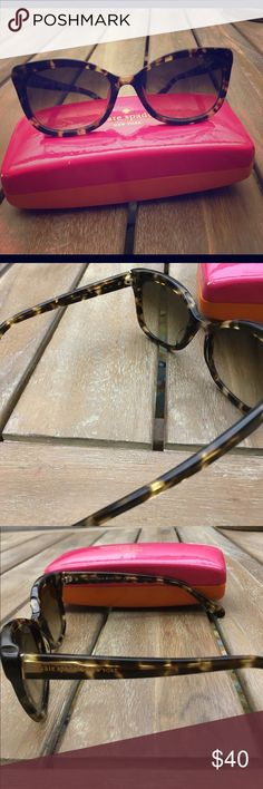 Kate Spade Amara sunglasses Authentic Kate Spade cat eye sunglasses in tortoise. Includes hard case kate spade Accessories Sunglasses