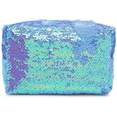 Forever21 Iridescent Sequin Makeup Bag (31 BRL) ❤ liked on Polyvore featuring beauty products, beauty accessories, bags & cases, bags, beauty, filler, toiletry kits, makeup purse, dop kit and makeup bag case