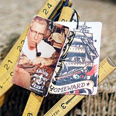 Custom two piece Sailor Jerry hang tag manufactured by CBF Labels