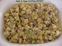 Apple and Sage Stuffing from Food.com: I love the taste of apples. # ...