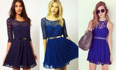 Combinar un vestido azul electrico gold