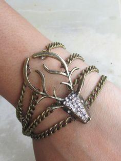 Handmade deer bracelet from Etsy