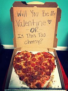 Valentines Day present for my boyfriend!  Can never go wrong with pizza!