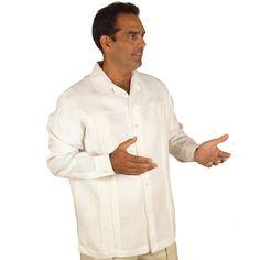 Long Sleeve Embroidered Shirt for Men. | MyCubanStore.com