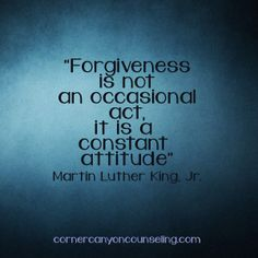 #Forgiveness is not an occasional act