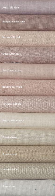 Nude tinten in je interieur. Er zijn al heel veel stoffen met iets kleur en structuur die perfect passen bij deze trend. Nude gordijnen passen bij industrieel, landelijk en modern. Geven net een tikje meer sfeer& warmte aan je interieur. Kijk op echtgordijn bij rose en naturel tinten. Hier een kleine selectie... #roze #gordijnen #nude #pastel #naturel #vouwgordijnen #gordijnstof