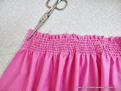 como-coser-con-cordón-elástico Tailoring Techniques, Techniques Couture, Sewing Techniques, Diy Sewing Projects, Sewing Hacks, Sewing Tutorials, Sewing Clothes, Diy Clothes, Diy Vestidos