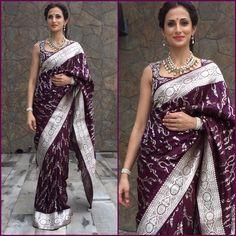 Indian Bridal Outfits, Indian Bridal Fashion, Indian Designer Outfits, Pakistani Outfits, Indian Dresses, Kanjivaram Sarees Silk, Pure Silk Sarees, Bridal Blouse Designs, Saree Blouse Designs