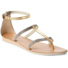 Cocobelle Tanzania Two-Tone Snakeskin Sandals ($33) ❤ liked on Polyvore featuring shoes, sandals, beige, two tone shoes, cocobelle sandals, strap shoes, mid wedge sandals and beige sandals