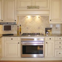 In This Modernized Bistro Kitchen, Notice That The Range Top Is Separate  From The Oven