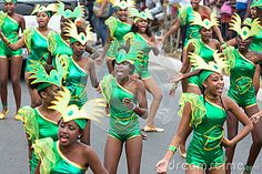 Group of dancer. The annual Carnival in the capital on February 09, 2016 in Cape Verde, Praia.