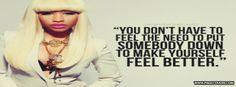 Nicki Minaj Quotes for Facebook   Nicki Minaj- Feel Better Cover Comments