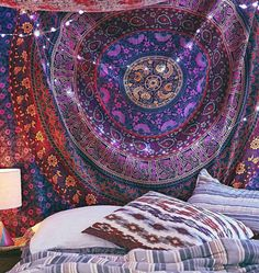 Wall Hanging Tapestry Bohemian Mandala by LunaLovesVintage on Etsy