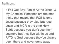 Panic! At the discos disciples left though
