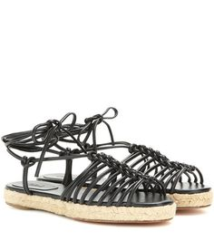 Chloé Jamie Leather Espadrille Sandals For Spring-Summer 2017