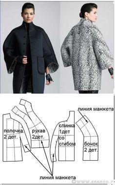 El patrón del abrigo interesante \/ los patrones Simples \/ la SEGUNDA CALLE