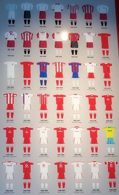 Bayern Munich kits from 1900 to 1989