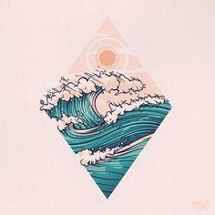 Aloha vibes Aloha vibes Aloha vibes by onevibegraphic art inspiration Aloha vibes Aloha vibes by onevibegraphic art inspiration Inspiration Art, Art Inspo, Doodle Drawing, Tattoo Designs, Ocean Tattoos, Ocean Wave Tattoo, Hawaii Tattoos, Graphic Art, Graphic Design